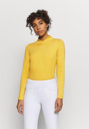AGNES MOCK NECK - Long sleeved top - amber