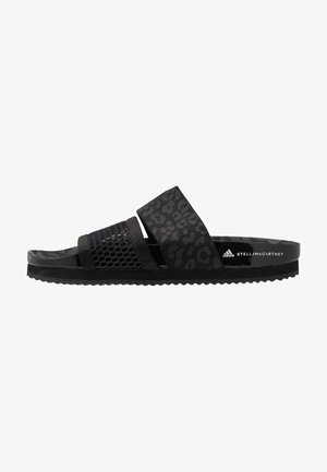 STELLA-LETTE - Pool slides - core black/utility black/footwear white