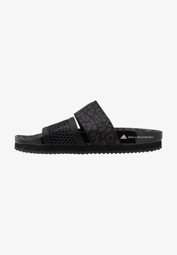 STELLA-LETTE - Pool slides - core black/utility black/footwear white