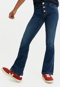 WE Fashion - Flared Jeans - dark blue - 0