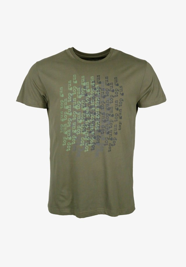 MODERN - Print T-shirt - olive