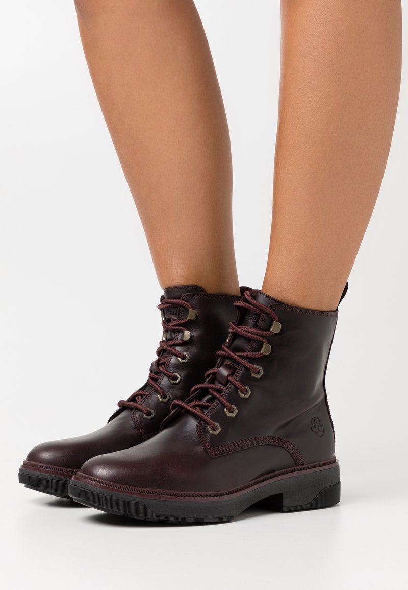 Timberland - NOLITA SKY LACE UP - Lace-up ankle boots - burgundy