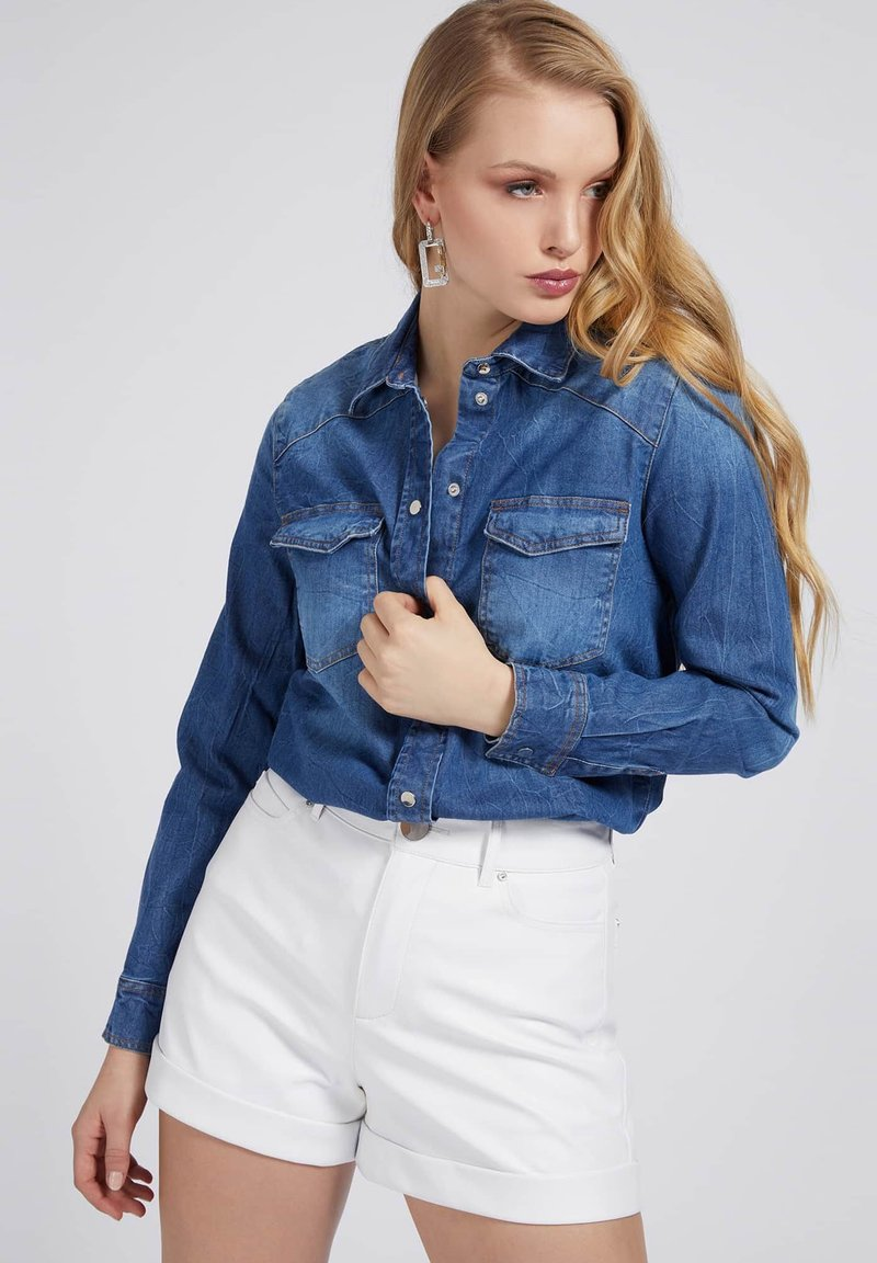 Guess - Button-down blouse - blau
