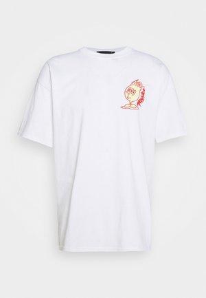 SCORCHER TEE - T-shirt med print - white