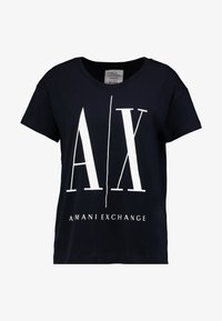 Armani Exchange - Camiseta estampada - navy - 4