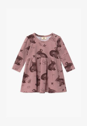 CUTE RABBITS BABY - Žerzejové šaty - pink