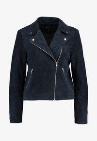 Selected Femme - SLFMARLEN JACKET - Leather jacket - night sky - 3