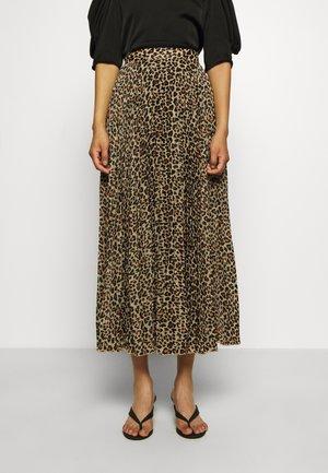 NESSA LONG SKIRT - Áčková sukně - brown