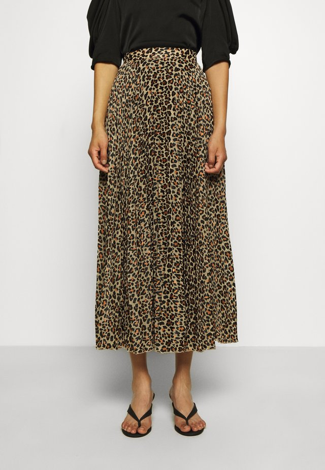 NESSA LONG SKIRT - Spódnica trapezowa - brown