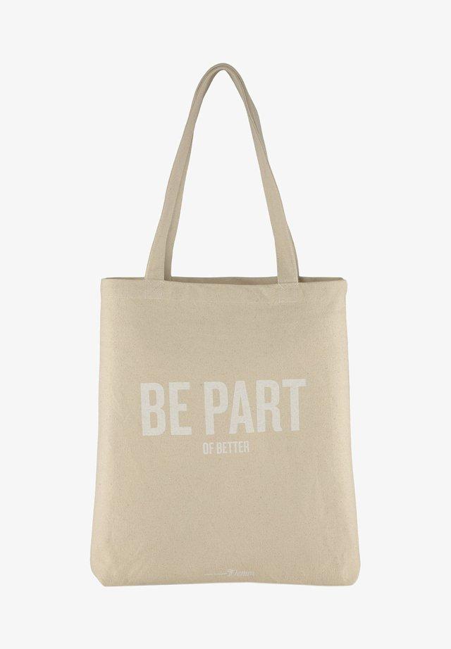 Shopping bag - soft creme beige