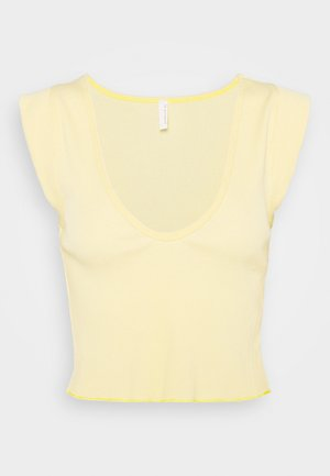PERFECT DAY TANK - T-Shirt print - light yellow