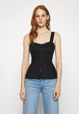 BUSTIER - Toppe - black