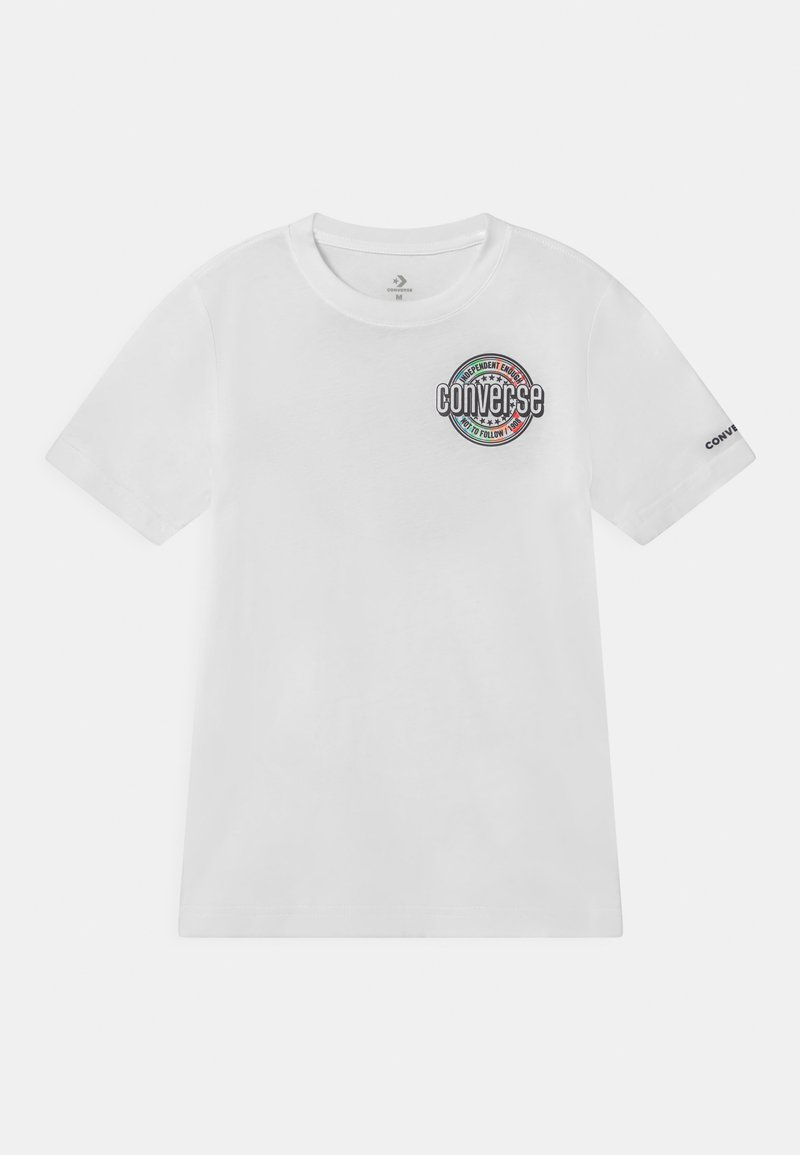 Converse - SLEEVE LOGO GRAPHIC UNISEX - Print T-shirt - white