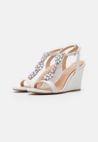 Lulipa London - LIZZIE WEDGE - High heeled sandals - white - 2