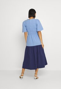 YAS - YASMARVIS LONG DRESS  - Maxi dress - cornflower blue/blue block - 2