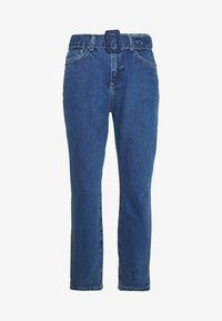 NMISABEL BELT MOM  - Vaqueros boyfriend - medium blue denim