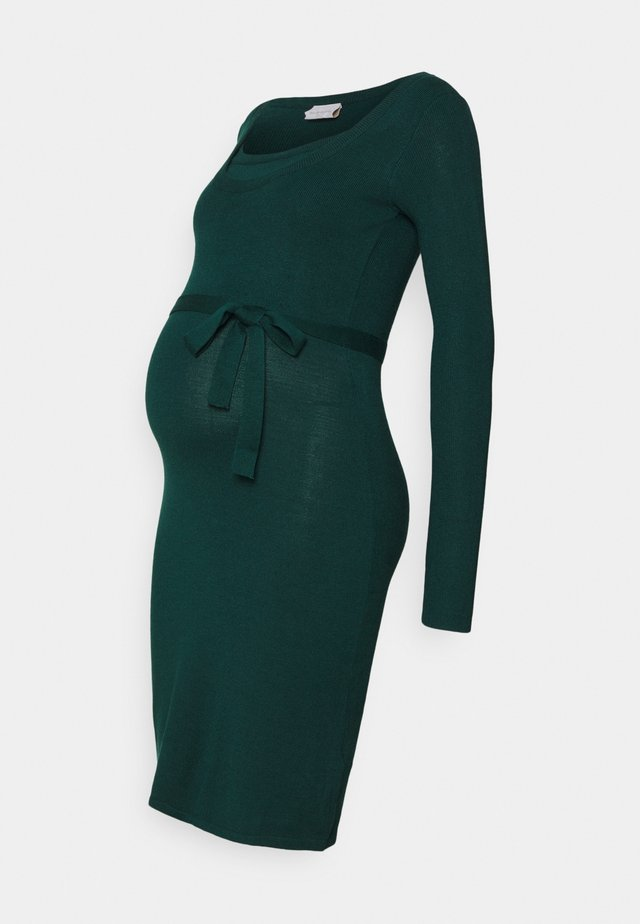 MLJACINA NELL DRESS - Stickad klänning - deep teal