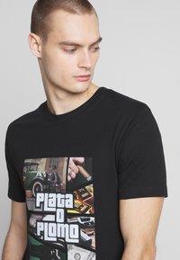 Mister Tee - PLATA O PLOMO TEE - Print T-shirt - black - 3