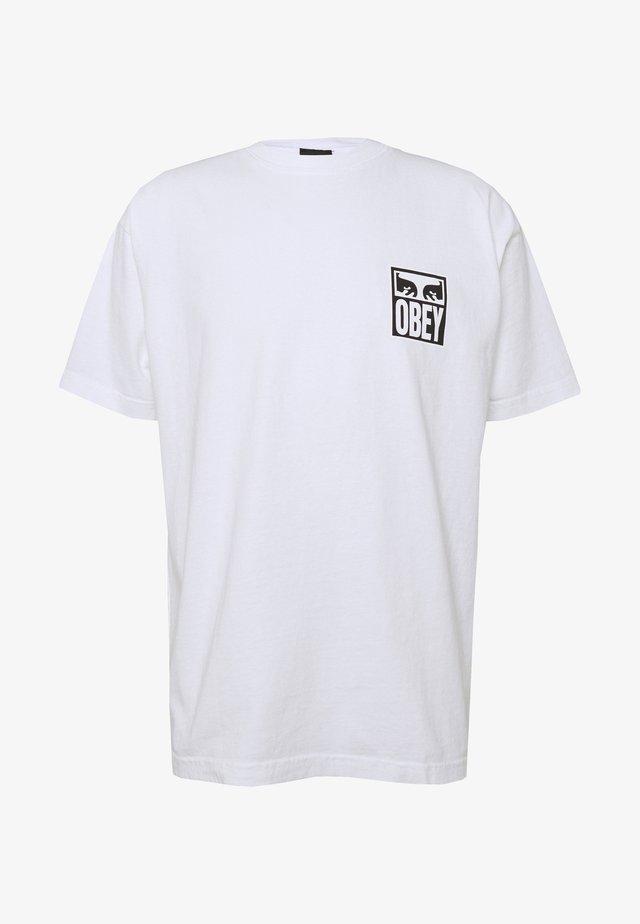 EYES ICON - Print T-shirt - white