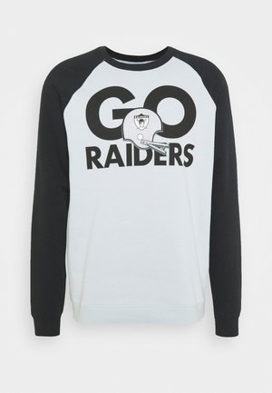NFL LAS VEGAS RAIDERS NIKE GO HELMET HISTORIC RAGLAN - Equipación de clubes - field silver/black