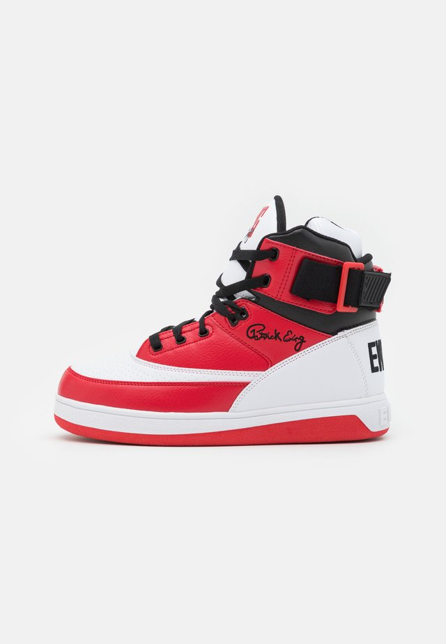 High-top trainers - white/chinese red/black