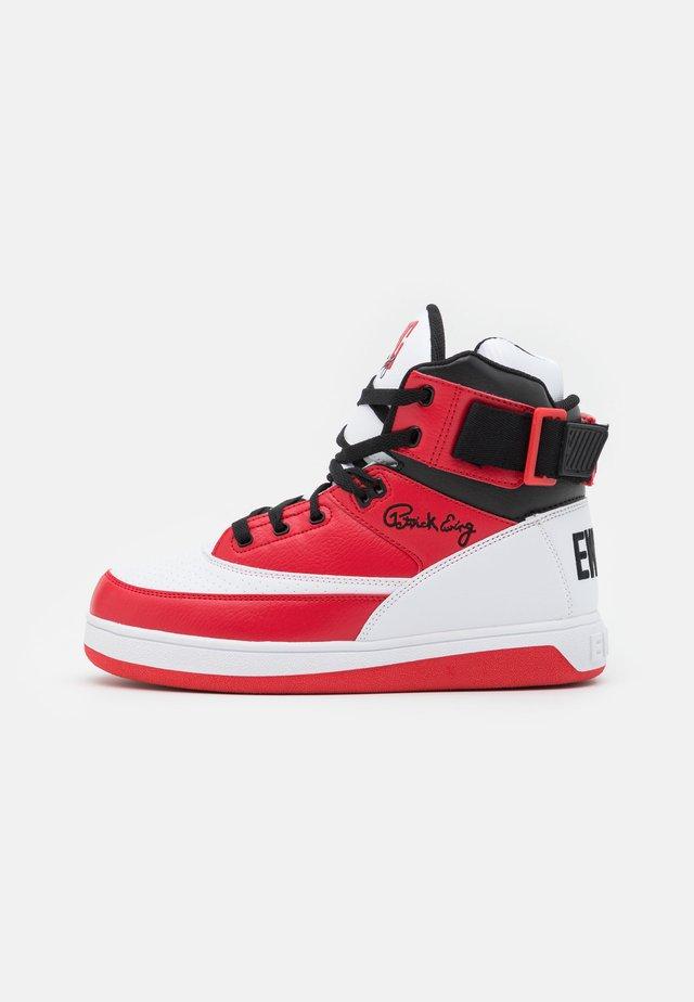 Zapatillas altas - white/chinese red/black