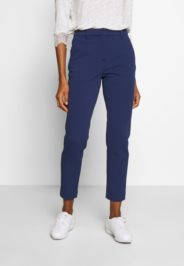PANTS WITH TURNUP - Kangashousut - deep indigo