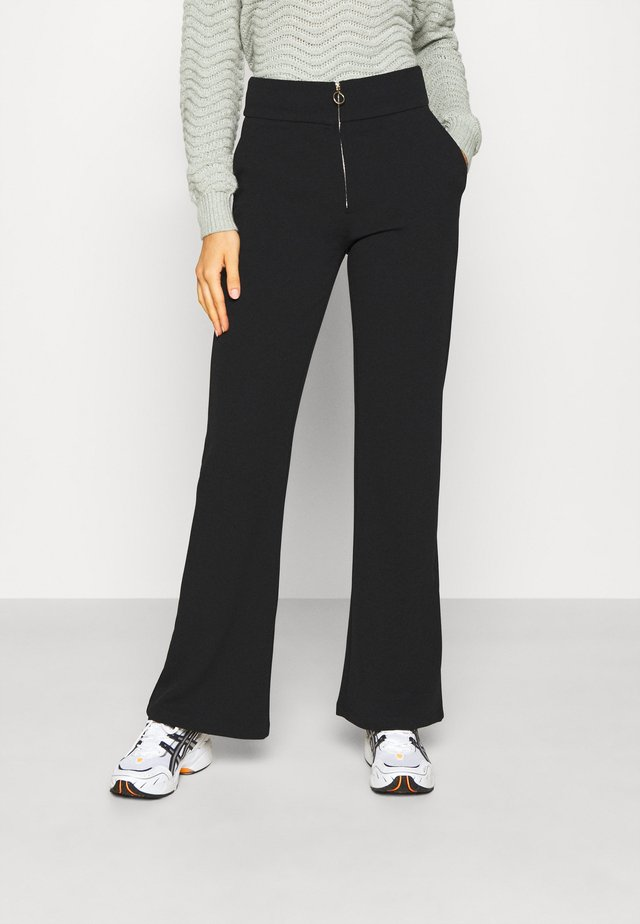 YASVICTORIA ZIP WIDE PANT - Broek - black