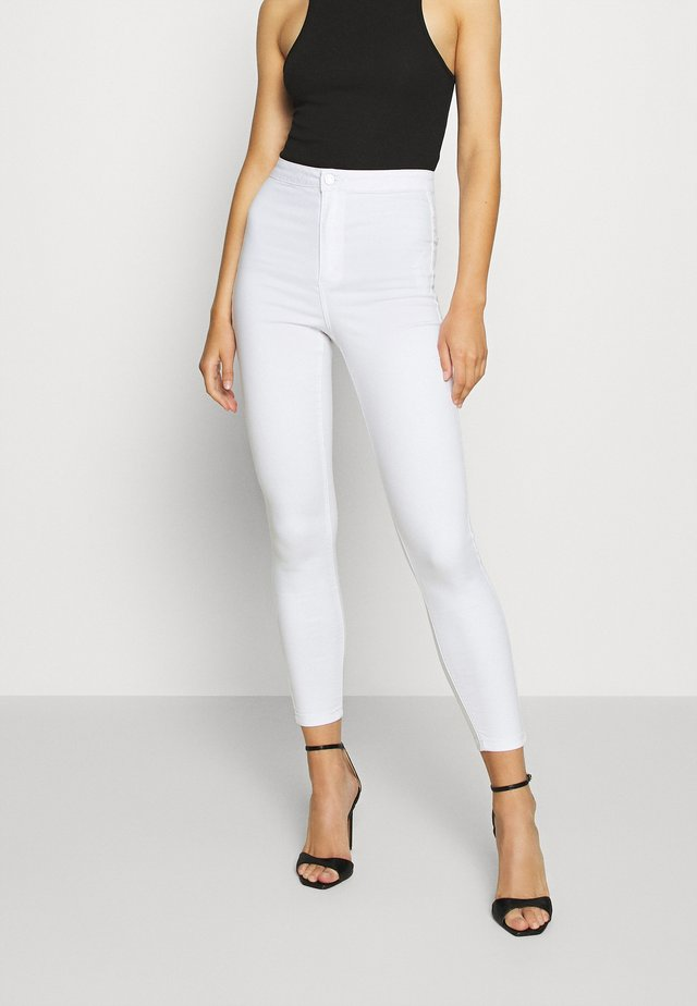 VICE HIGH WAISTED - Jeans Skinny Fit - white