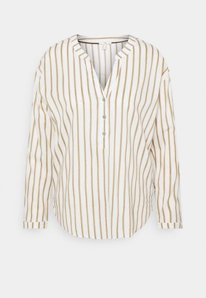 STRIPE - Topper langermet - light khaki