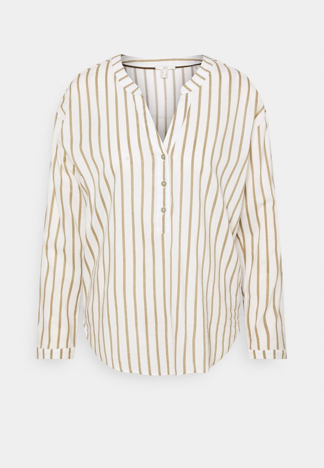 STRIPE - Long sleeved top - light khaki