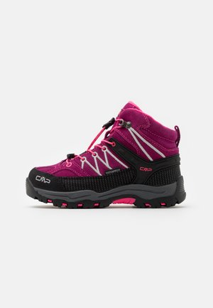 KIDS RIGEL MID SHOE WP UNISEX - Hiking shoes - berry/pink fluo