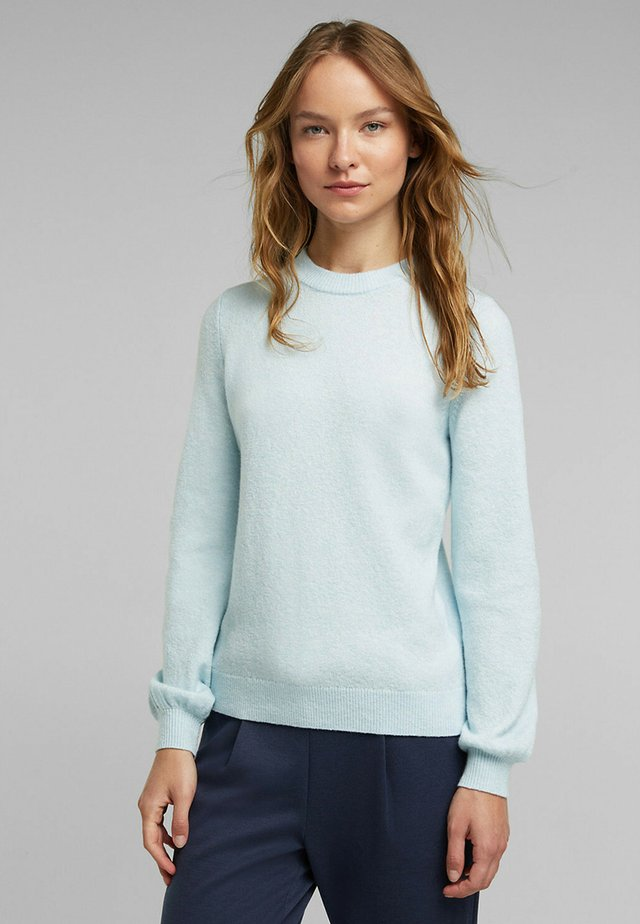 FITTED PUFFY - Jumper - pastel blue