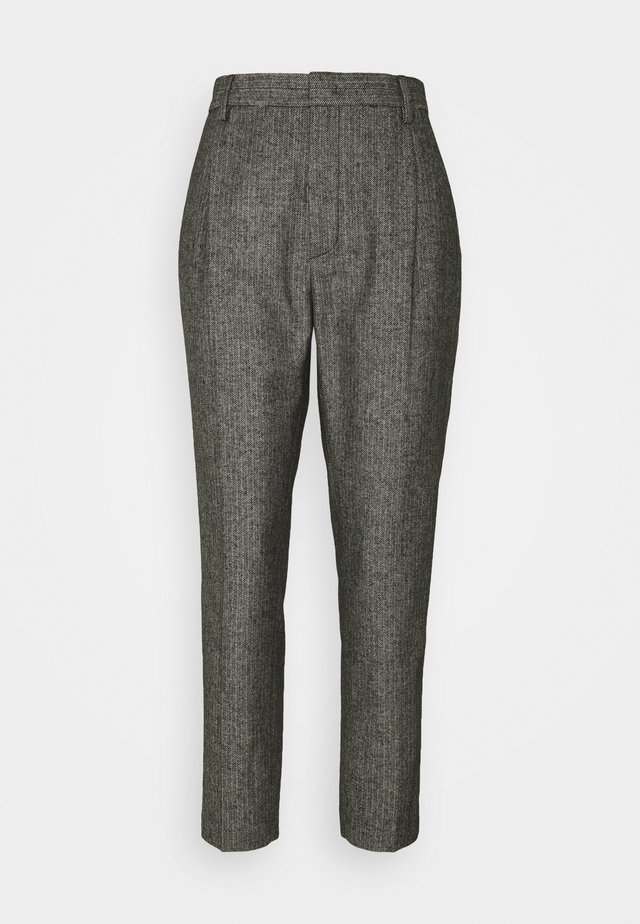 Trousers - anthracite/white