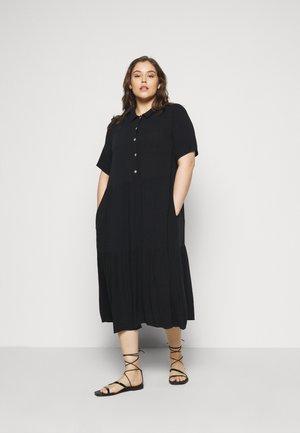 MIDI DRESS - Shirt dress - black solid