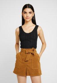 BDG Urban Outfitters - POINTELLE TANK - Topper - black - 0