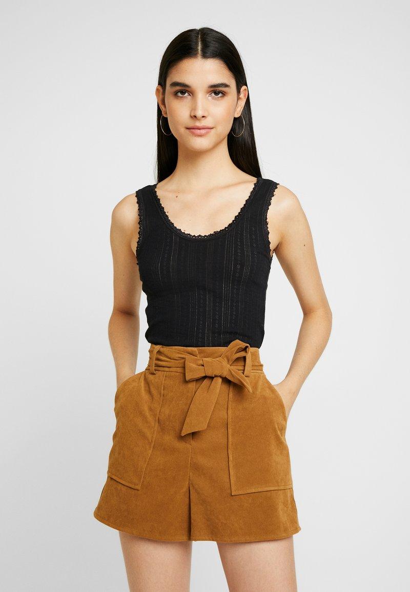 BDG Urban Outfitters - POINTELLE TANK - Topper - black