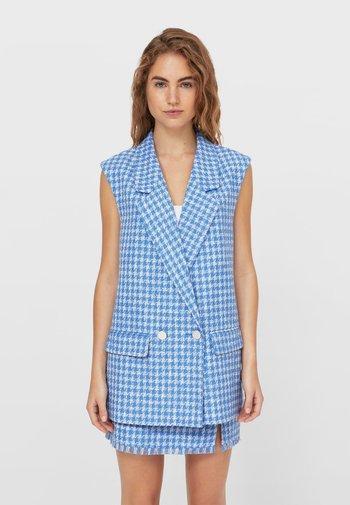 Waistcoat - mottled blue
