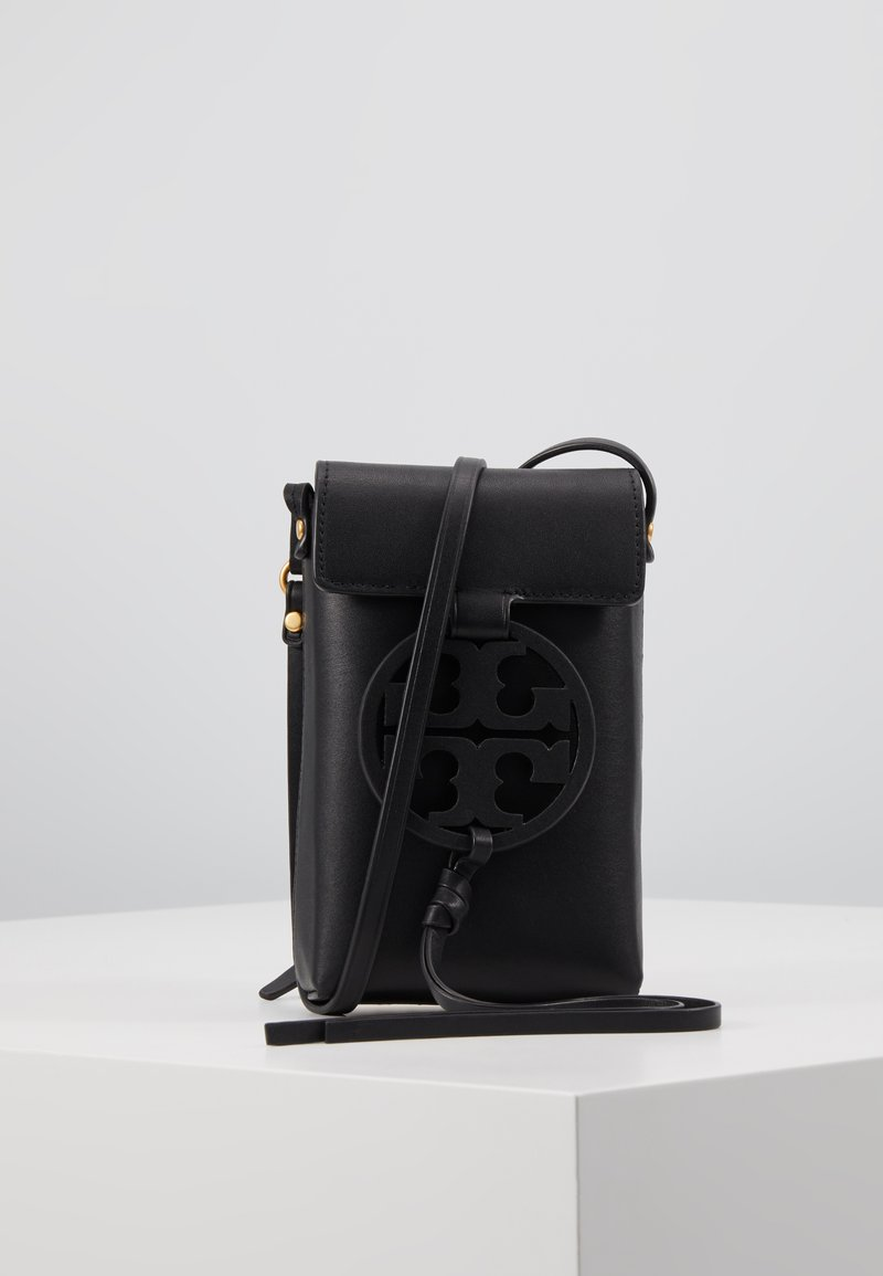 Tory Burch - MILLER PHONE CROSSBODY - Across body bag - black