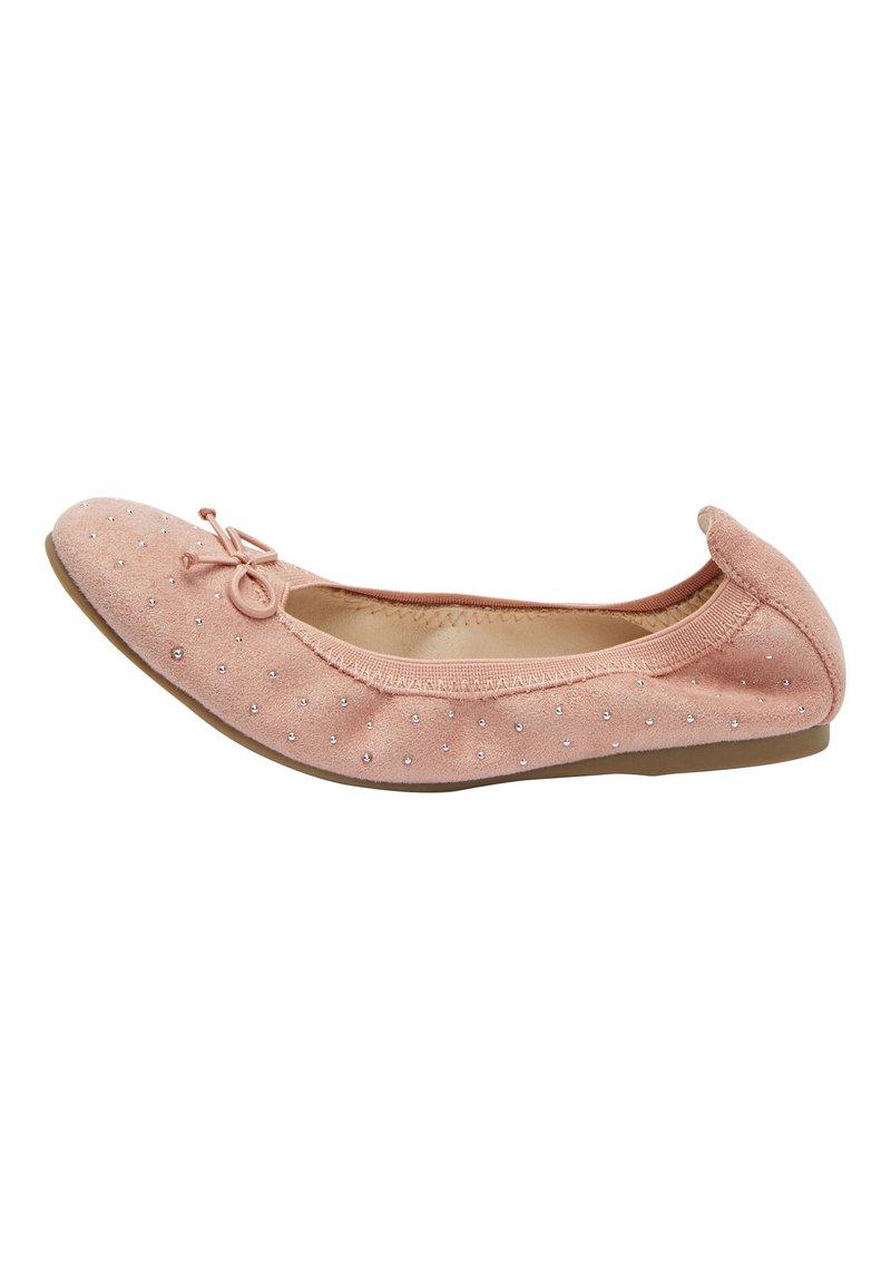 Next - PINK STUDDED FLEXI BALLET SHOES (OLDER) - Ballet pumps - pink