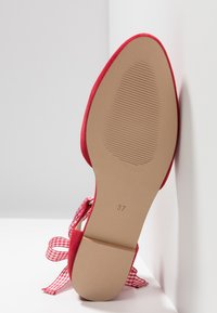 mint&berry - Ankle strap ballet pumps - red - 6