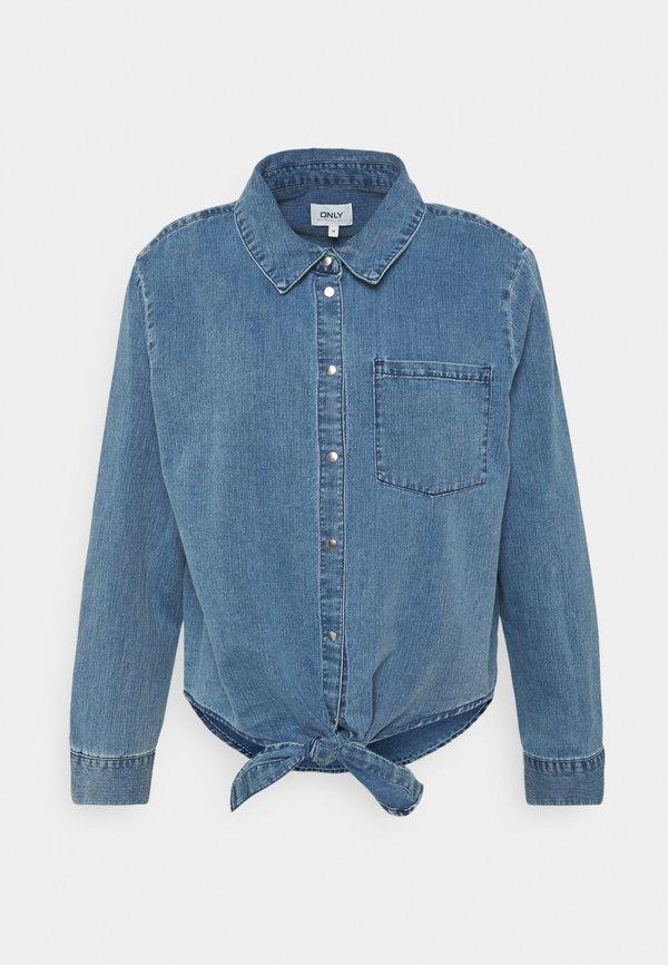 ONLY Tall ONLLECEY KNOT - Koszula - medium blue denim/niebieski denim WYRH