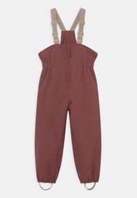 Wheat - SKI PANTS UNISEX - Snow pants - maroon - 0