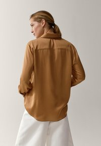 Massimo Dutti - Button-down blouse - gold - 1