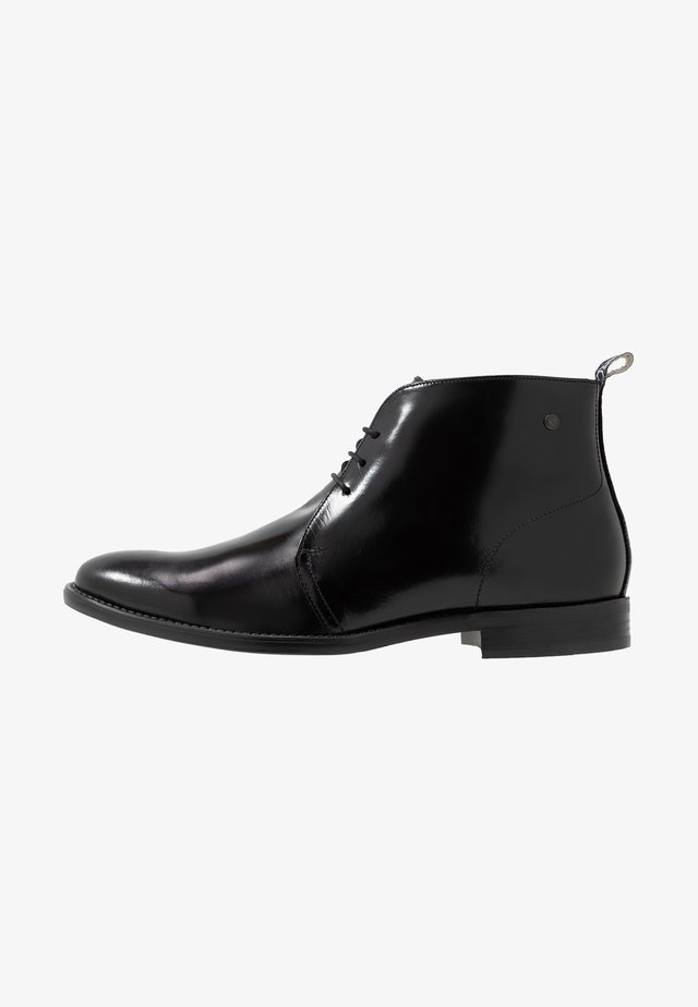 FALCO - Lace-up ankle boots - hi shine black