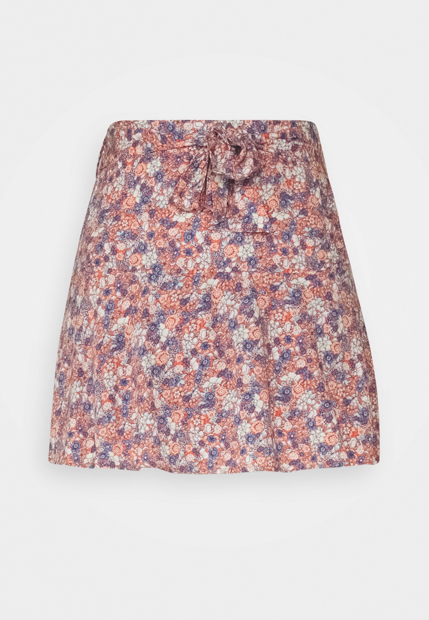 Women WEB FALDA MICRO FLORES - Mini skirt