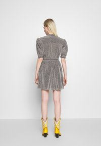 House of Holland - VNECK MINI DRESS - Cocktail dress / Party dress - silver - 2