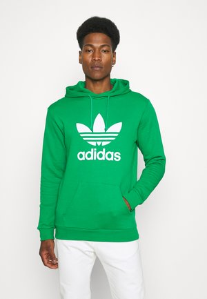 TREFOIL HOODY ORIGINALS ADICOLOR SWEATSHIRT HOODIE - Bluza z kapturem - green/white