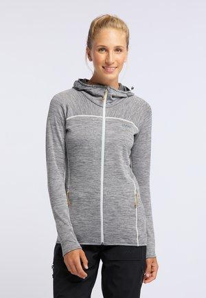 FOXY - Zip-up hoodie - light grey melange