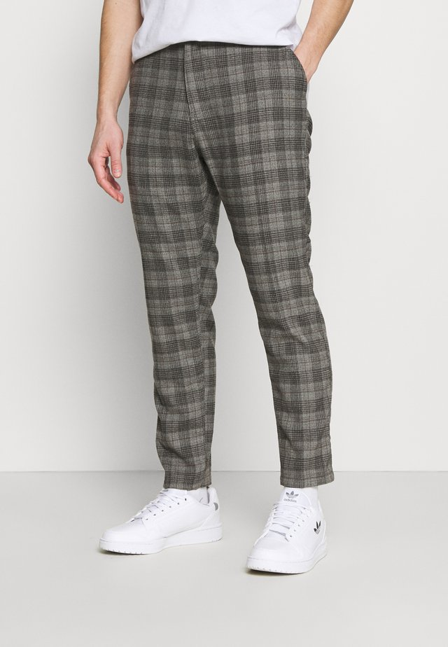 OXFORD - Kalhoty - charcoal check
